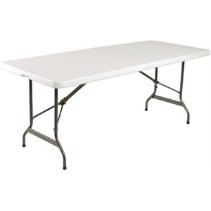 TABLE BLANCHE PLIAGE AU CENTRE 1.80M L001