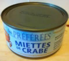 MIETTES DE CRABES 170 GRS   A001110